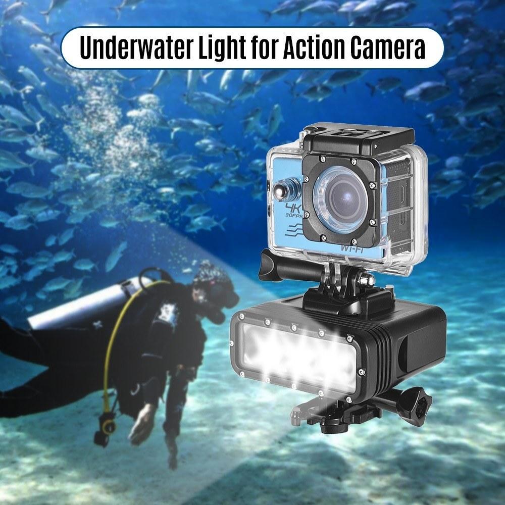 GoPro 7対応 40m 防水 アクションカメラ LEDライト 送料無料_画像1