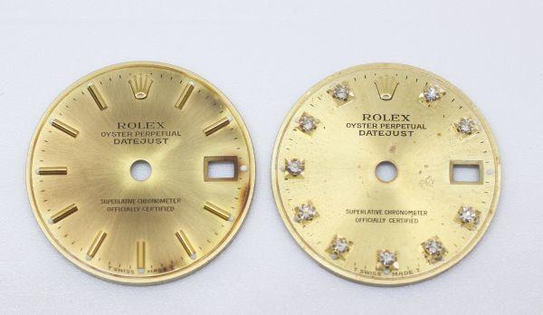 純正品 中古 ロレックス ROLEX 10P ダイヤ 文字盤 デイトジャスト用 腕時計 レディース 69173 シャンパン ゴールド ジャンク