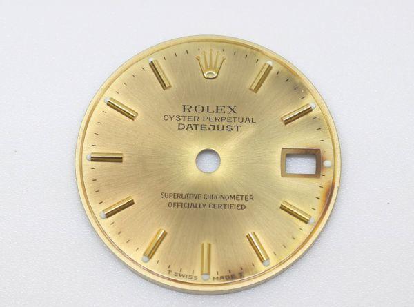 純正品 中古 ロレックス ROLEX 10P ダイヤ 文字盤 デイトジャスト用 腕時計 レディース 69173 シャンパン ゴールド ジャンク_画像5