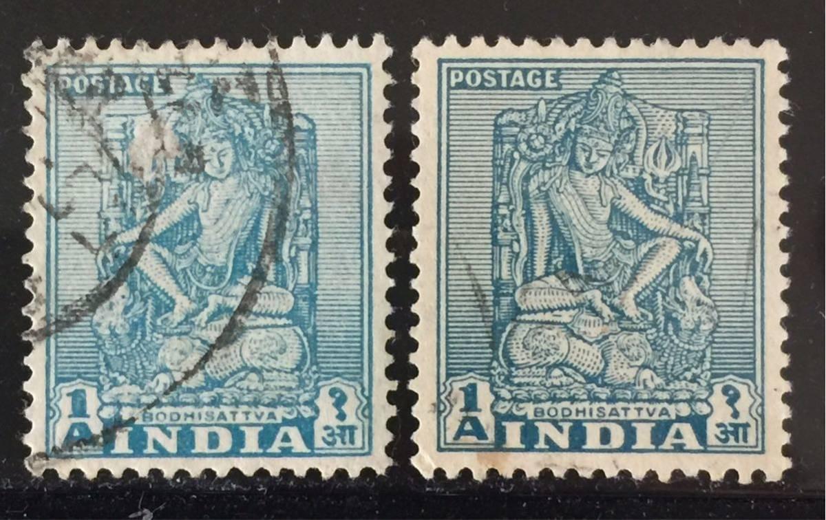 インド切手★マンジュシュリー(文殊菩薩)1950年_画像1