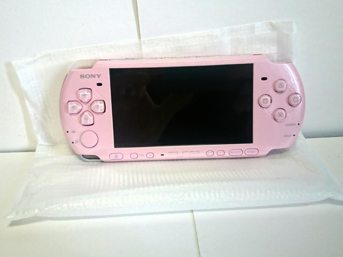 新品未使用PSP「プレイステーション・ポータブル」 ブロッサム・ピンク (PSP-3000ZP)_画像3