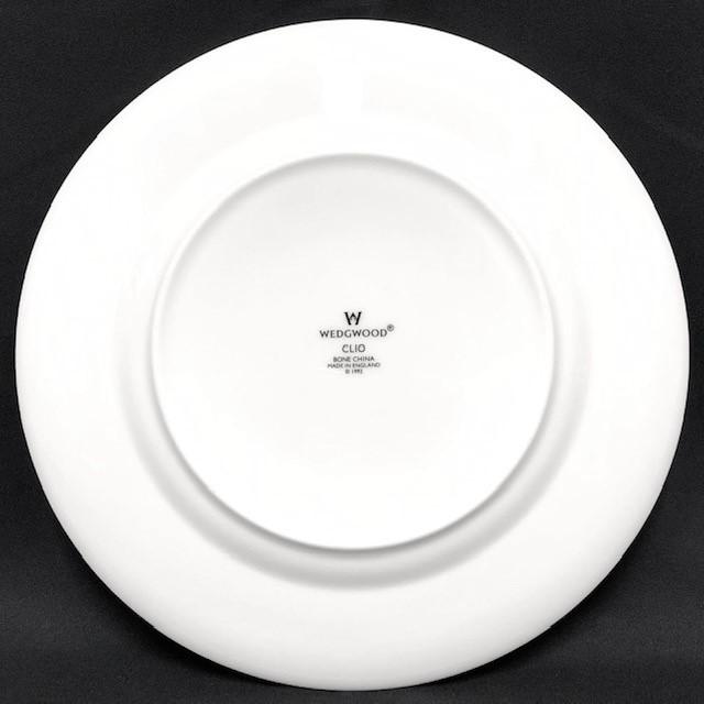 ★新品未使用★ WEDGWOOD ウェッジウッド クリオ CLIO BONE CHINA 英国製 ランチプレート 皿 中皿 2枚  RaHD08_画像3