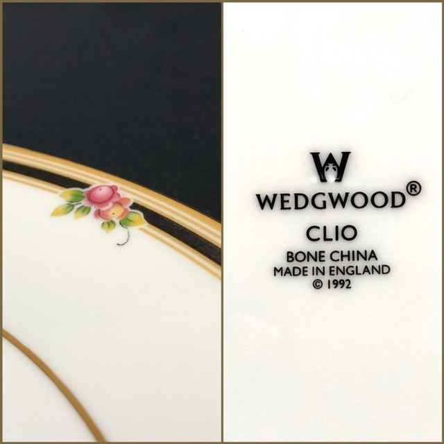 ★新品未使用★ WEDGWOOD ウェッジウッド クリオ CLIO BONE CHINA 英国製 ランチプレート 皿 中皿 2枚  RaHD08_画像4