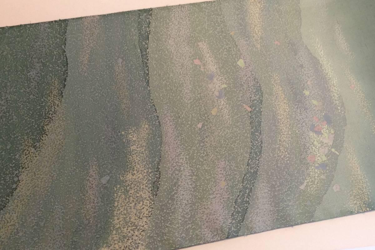 牛首紬の反物 正絹  / 着尺 未使用_画像5