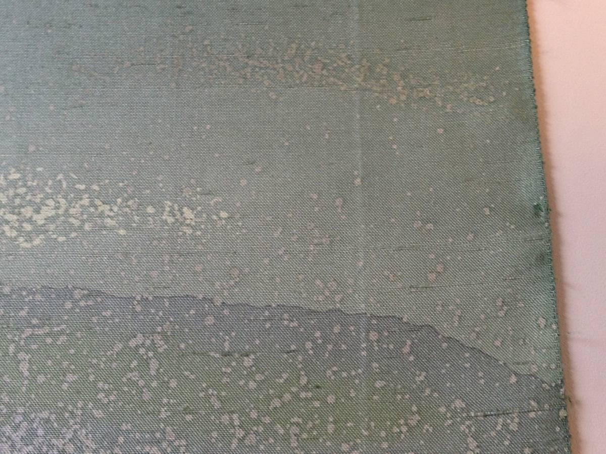 牛首紬の反物 正絹  / 着尺 未使用_画像8