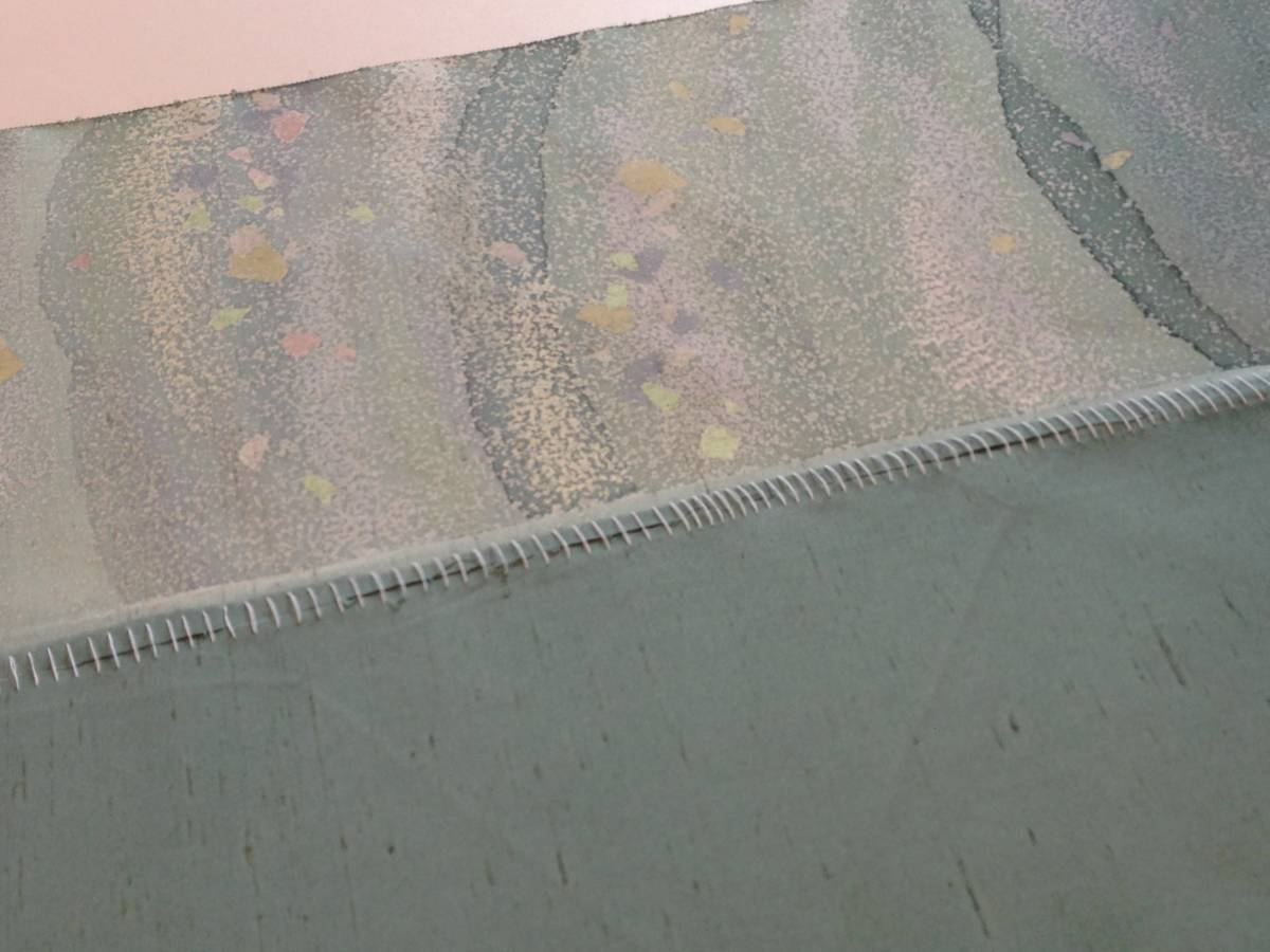 牛首紬の反物 正絹  / 着尺 未使用_画像10