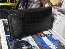 fine quality Classic color . exist adult long wallet long wallet crocodile leather . part original leather one sheets leather popular men's gentleman for for man present