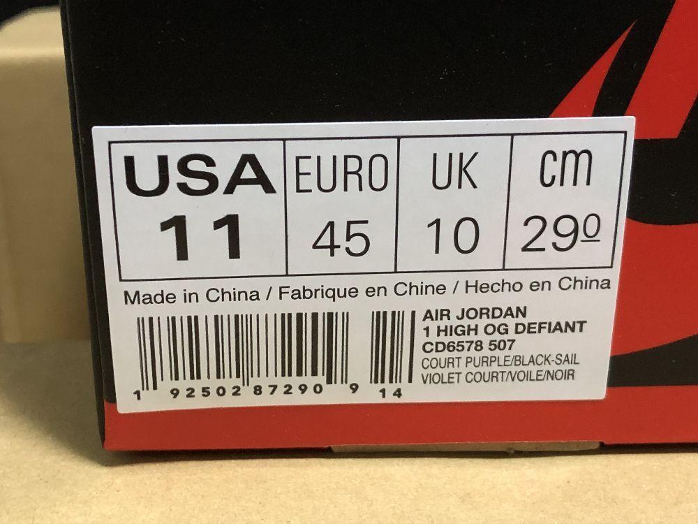 新品 正規品 本物 29.0cm US11.0 / SB AIR JORDAN 1 HIGH OG DEFIANT LA TO CHICAGO CD6578-507 レイカーズ シカゴ NIKE ナイキ_画像10