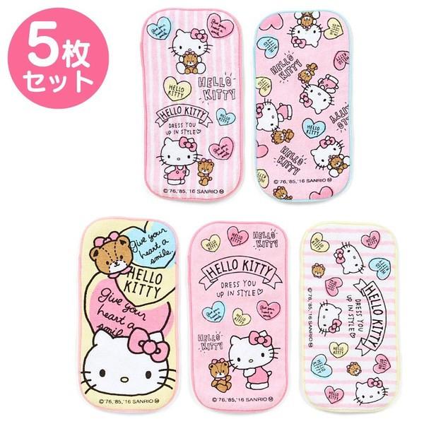 ☆ Sanrio ☆ Hello Kitty half Petit towel Set of 5