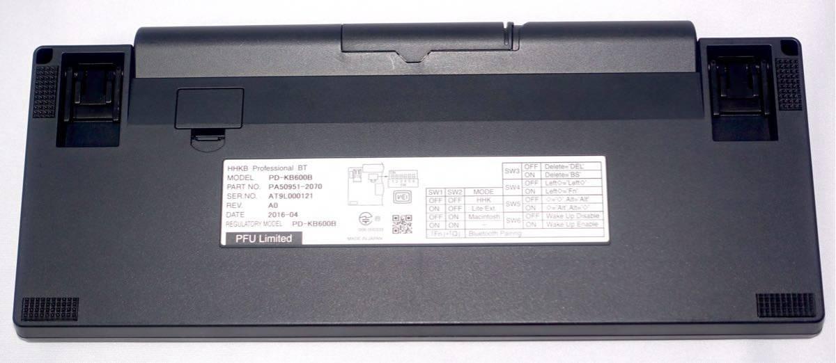 PFU HHKB Happy Hacking Keyboard US配列 BT Bluetooth ワイヤレス メカニカルキーボード Keyboard 英語配列 (ケース付き)_画像3