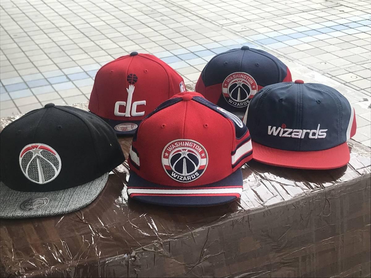 USA正規品 MITCHELL&NESS ミッチェル&ネス ワシントン Wizards ウィザーズ 黒 グレー スナップバックキャップ 帽子 NBA 公式 バスケ 八村塁_他のデザインも別途出品中です