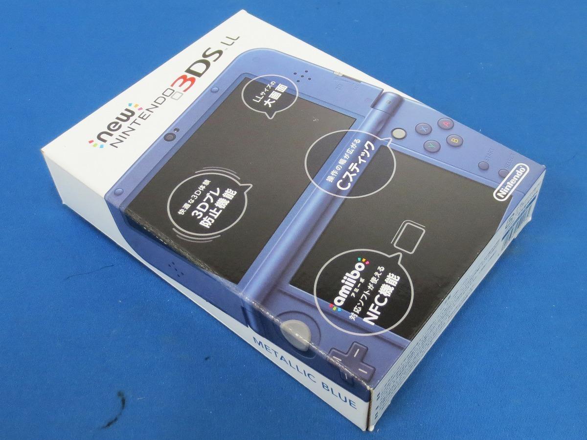1円~★Nintendo Newニンテンドー3DS LL本体≪E≫ メタリックブルー ※動作確認済・完品※(5332)_画像5