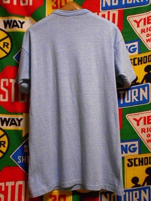 ★コンディション◎な1枚★Made in USA製アメリカ製ChampionチャンピオンビンテージUSNA染み込みプリントTシャツ80s80年代トリコタグ青霜降_画像3