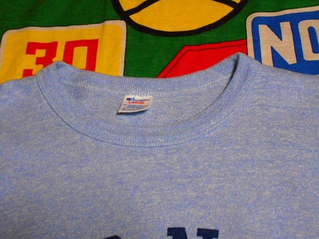 ★コンディション◎な1枚★Made in USA製アメリカ製ChampionチャンピオンビンテージUSNA染み込みプリントTシャツ80s80年代トリコタグ青霜降_画像4