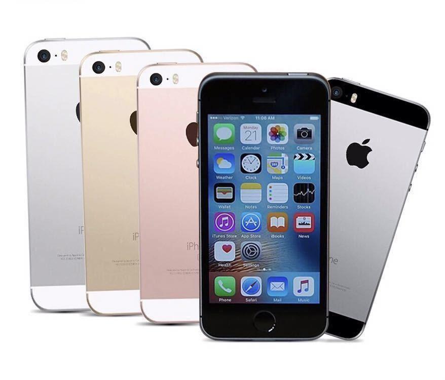 送料無料 新品再生品 iPhone SE A1723 128GB ゴールド SIMフリー 海外版 シャッター音無_画像2