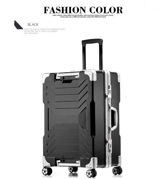 アルミスーツケース アルミフレームキャリーケース 小型軽量キャリーケース 頑丈 フレーム TSAロック搭載 海外旅行 24インチ3色あり_画像5