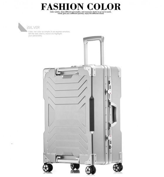アルミスーツケース アルミフレームキャリーケース 小型軽量キャリーケース 頑丈 フレーム TSAロック搭載 海外旅行 24インチ3色あり_画像7