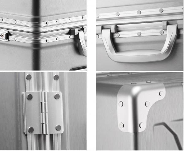 アルミスーツケース アルミフレームキャリーケース 小型軽量キャリーケース 頑丈 フレーム TSAロック搭載 海外旅行 24インチ3色あり_画像8