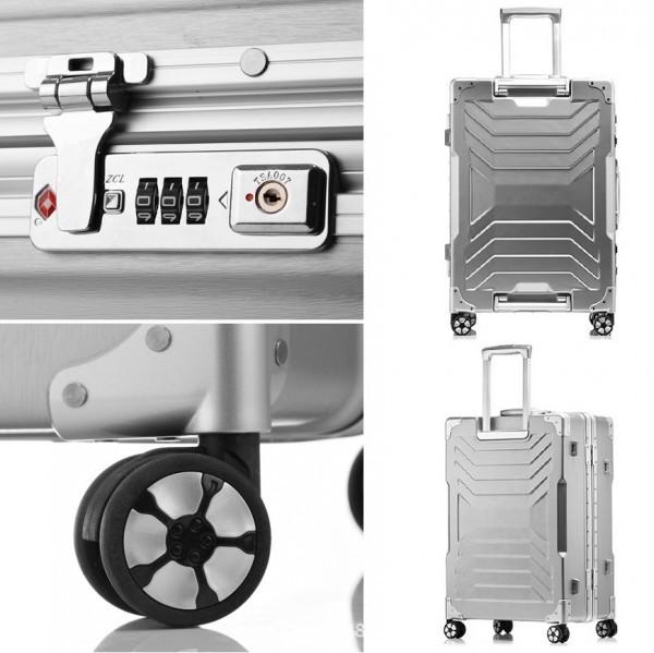 アルミスーツケース アルミフレームキャリーケース 小型軽量キャリーケース 頑丈 フレーム TSAロック搭載 海外旅行 24インチ3色あり_画像9