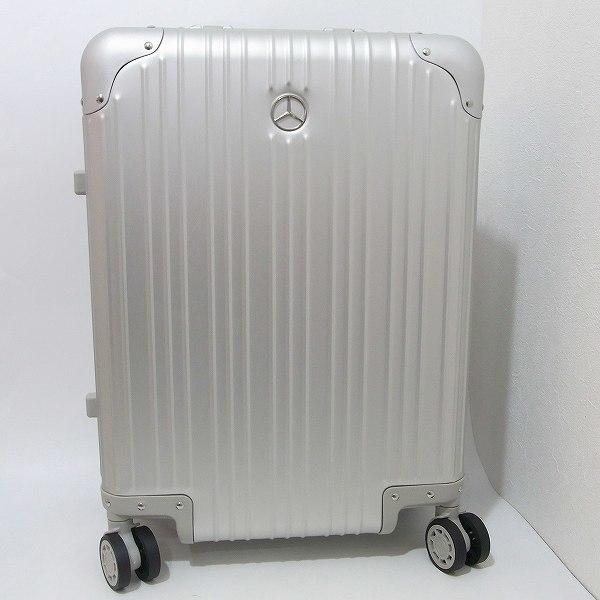 1円 新品 未使用 メルセデスベンツ スーツケース アルミ 32L 旅行 二泊三日