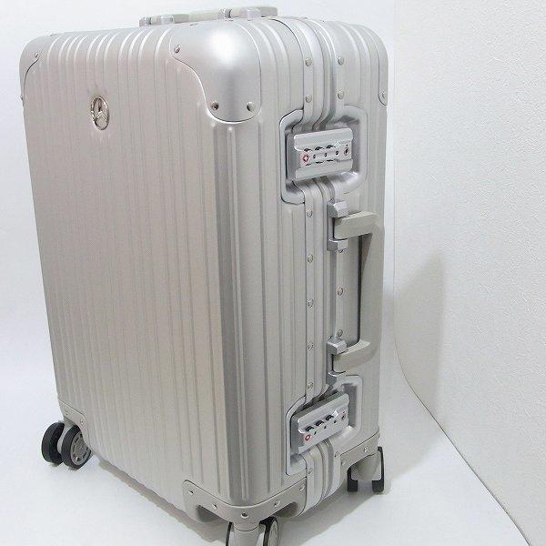 1円 新品 未使用 メルセデスベンツ スーツケース アルミ 32L 旅行 二泊三日_画像2