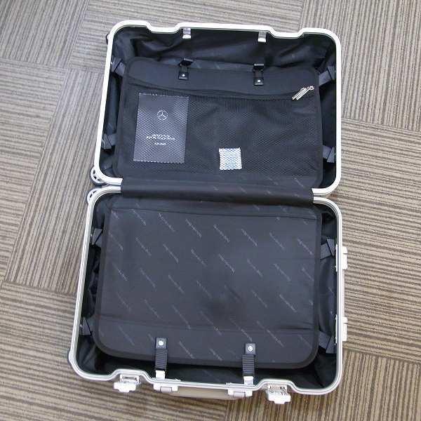 1円 新品 未使用 メルセデスベンツ スーツケース アルミ 32L 旅行 二泊三日_画像7