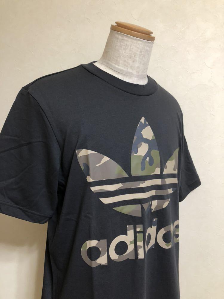 【新品】 adidas originals SSL TEE CAMO OS アディダス オリジナルス トレフォイル カモフラ ロゴ Tシャツ サイズM 半袖 DX4203_画像8