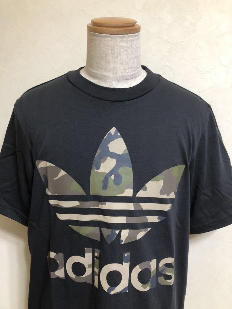 【新品】 adidas originals SSL TEE CAMO OS アディダス オリジナルス トレフォイル カモフラ ロゴ Tシャツ サイズM 半袖 DX4203_画像3
