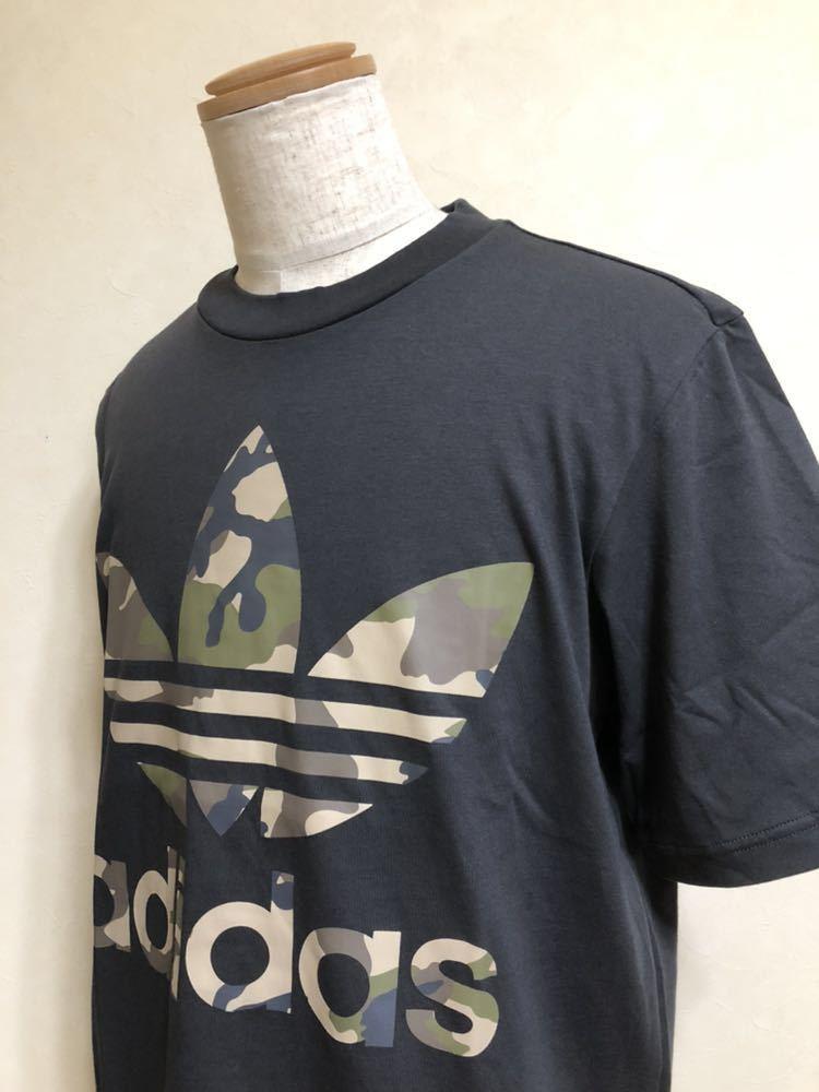 【新品】 adidas originals SSL TEE CAMO OS アディダス オリジナルス トレフォイル カモフラ ロゴ Tシャツ サイズM 半袖 DX4203_画像7