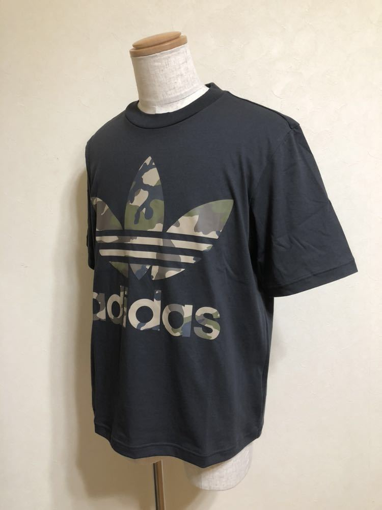 【新品】 adidas originals SSL TEE CAMO OS アディダス オリジナルス トレフォイル カモフラ ロゴ Tシャツ サイズM 半袖 DX4203_画像6