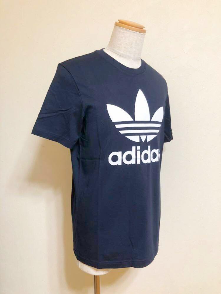 【新品】 adidas originals ORIG TREFOIL TEE アディダス オリジナルス トレフォイル ビッグロゴ 半袖 Tシャツ サイズO ネイビー AY7710_画像8