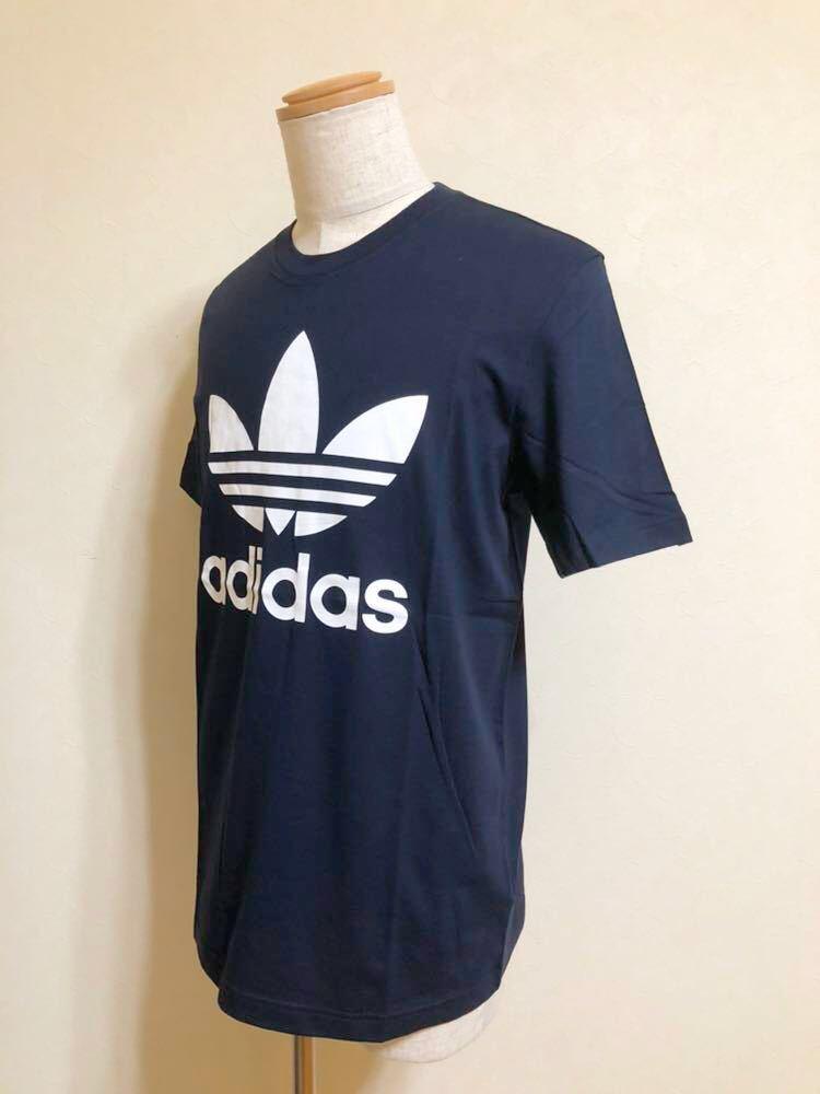 【新品】 adidas originals ORIG TREFOIL TEE アディダス オリジナルス トレフォイル ビッグロゴ 半袖 Tシャツ サイズO ネイビー AY7710_画像6