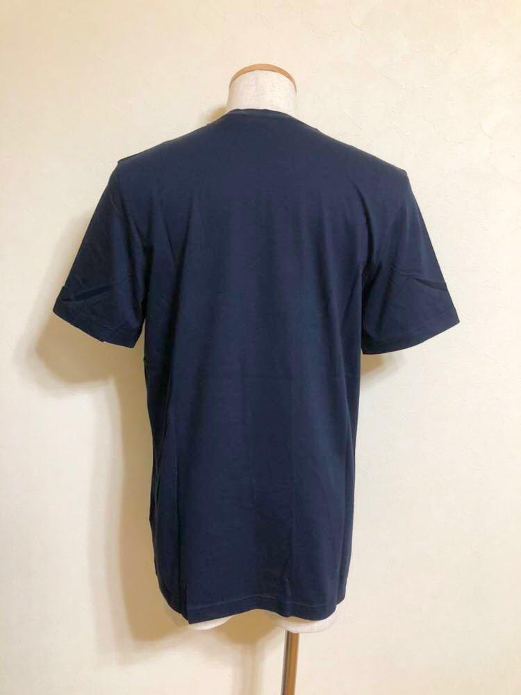【新品】 adidas originals ORIG TREFOIL TEE アディダス オリジナルス トレフォイル ビッグロゴ 半袖 Tシャツ サイズO ネイビー AY7710_画像2