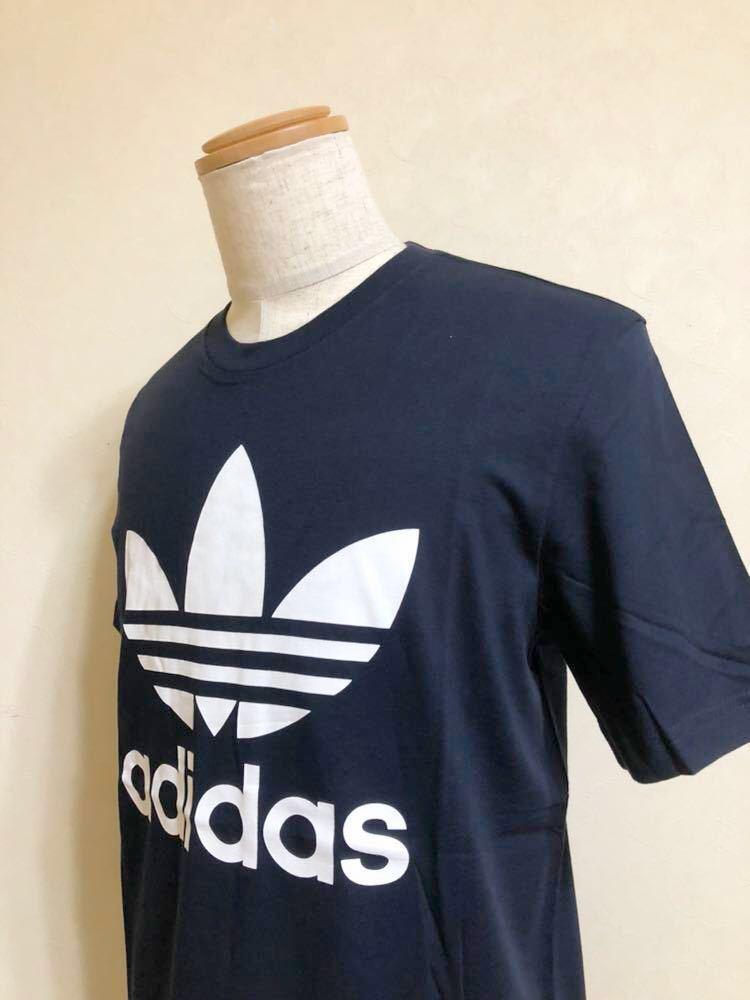 【新品】 adidas originals ORIG TREFOIL TEE アディダス オリジナルス トレフォイル ビッグロゴ 半袖 Tシャツ サイズO ネイビー AY7710_画像7