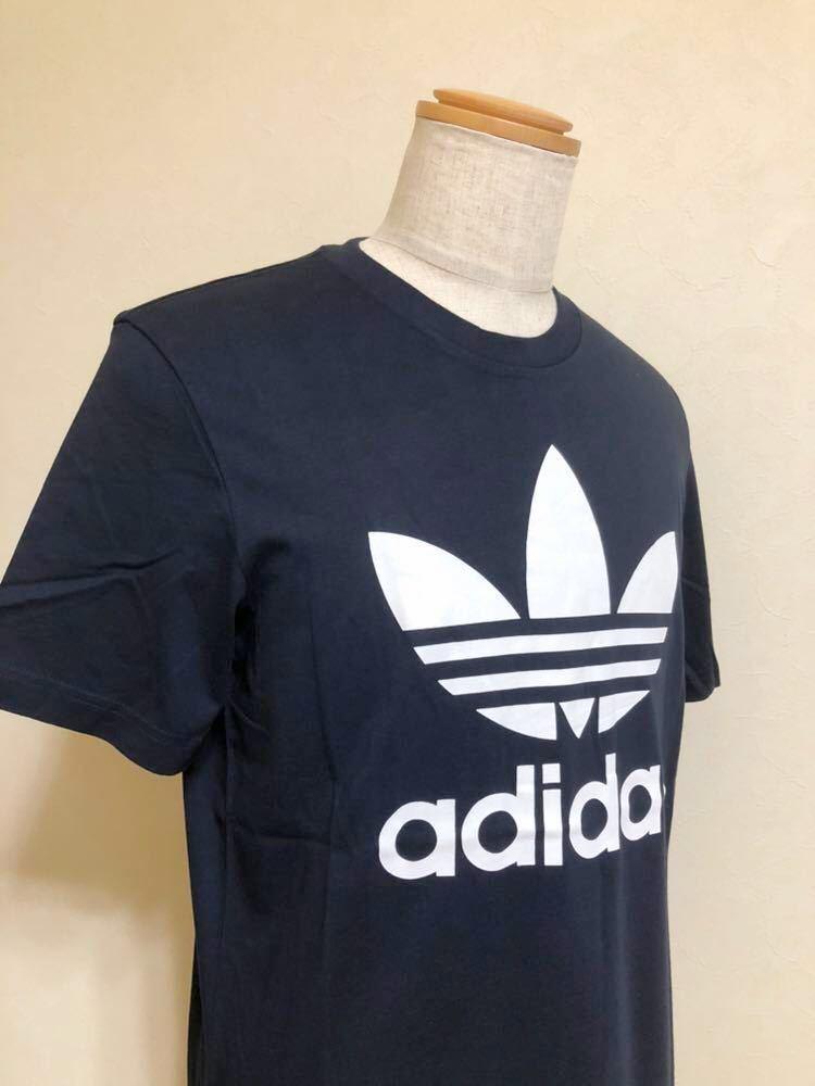 【新品】 adidas originals ORIG TREFOIL TEE アディダス オリジナルス トレフォイル ビッグロゴ 半袖 Tシャツ サイズO ネイビー AY7710_画像9