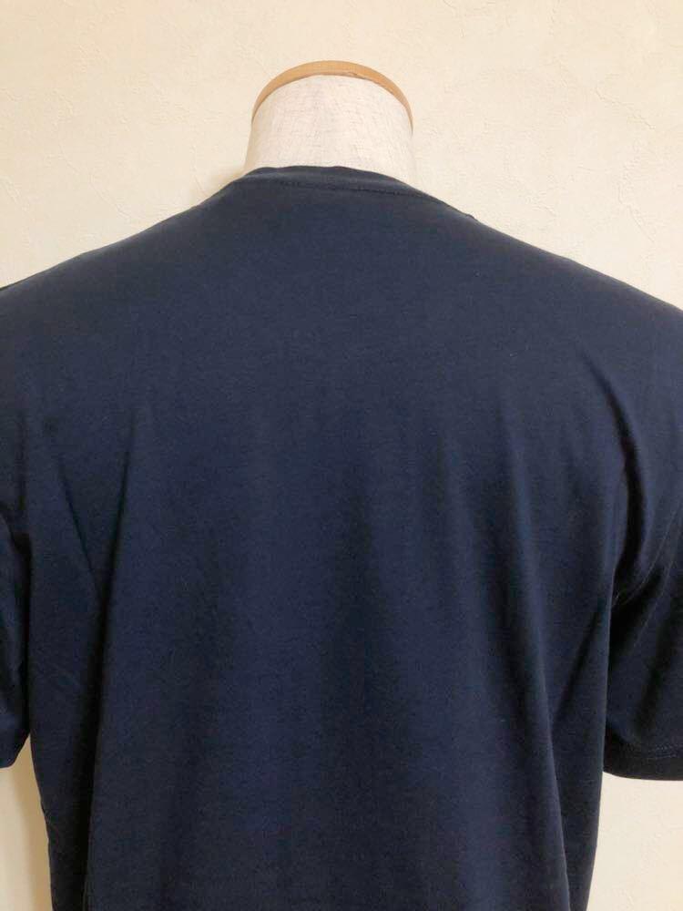 【新品】 adidas originals ORIG TREFOIL TEE アディダス オリジナルス トレフォイル ビッグロゴ 半袖 Tシャツ サイズO ネイビー AY7710_画像4