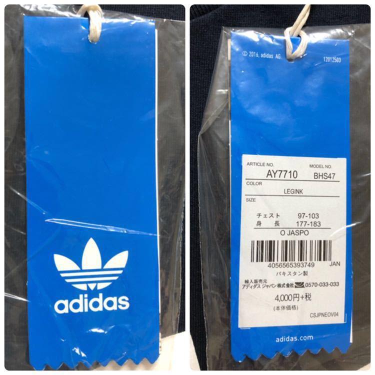 【新品】 adidas originals ORIG TREFOIL TEE アディダス オリジナルス トレフォイル ビッグロゴ 半袖 Tシャツ サイズO ネイビー AY7710_画像10