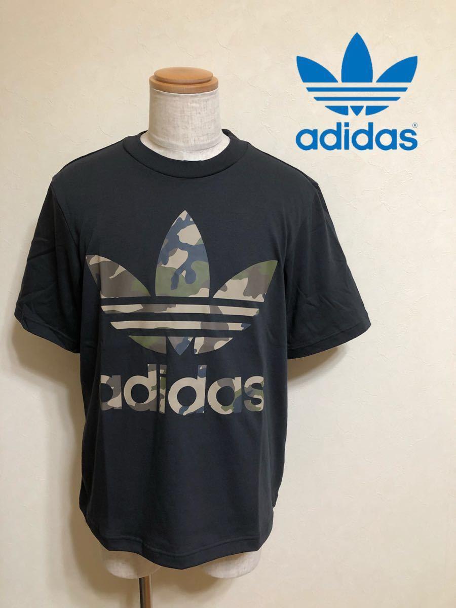 【新品】 adidas originals SSL TEE CAMO OS アディダス オリジナルス トレフォイル カモフラ ロゴ Tシャツ サイズM 半袖 DX4203_画像1