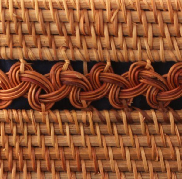 職人手作り お買物かご 竹編細工籠 煎茶道具 かごバック 籐製 自然素材 編み上げ 小物入れ 丈夫_画像4