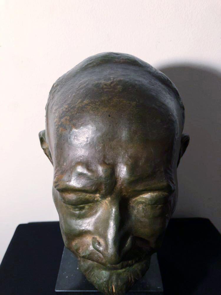 高田博厚 希少作品 志賀直哉像 世界的彫刻家による傑作ブロンズ作品 真作保証 1968年作 入手困難 在銘 サイン 代表作 頭像_画像6