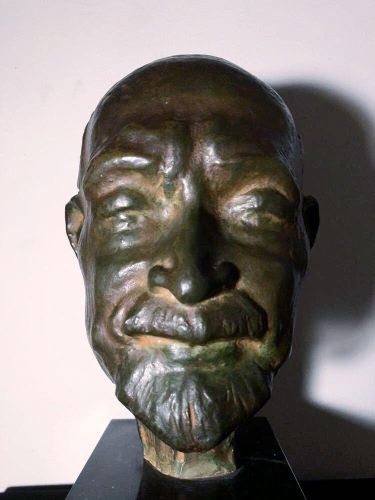 高田博厚 希少作品 志賀直哉像 世界的彫刻家による傑作ブロンズ作品 真作保証 1968年作 入手困難 在銘 サイン 代表作 頭像_画像7