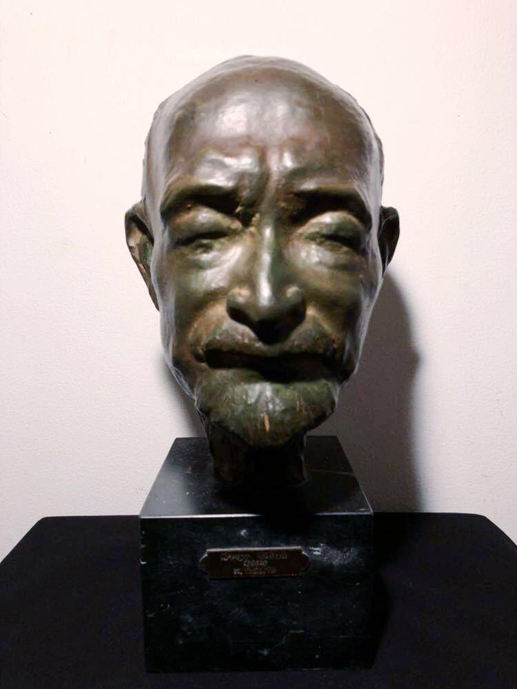 高田博厚 希少作品 志賀直哉像 世界的彫刻家による傑作ブロンズ作品 真作保証 1968年作 入手困難 在銘 サイン 代表作 頭像_画像2