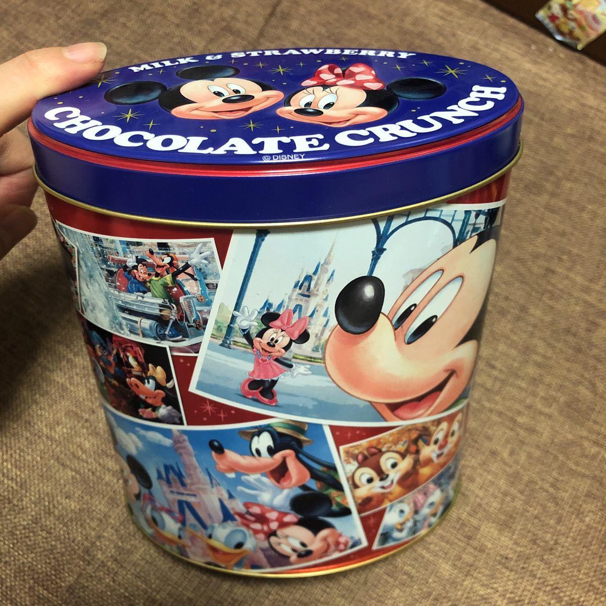 東京ディズニーリゾート チョコレートクランチ 空き缶 空きカン ケース TDL TDS TDR ディズニーランド ディズニーシー ミッキー ミニー_画像1