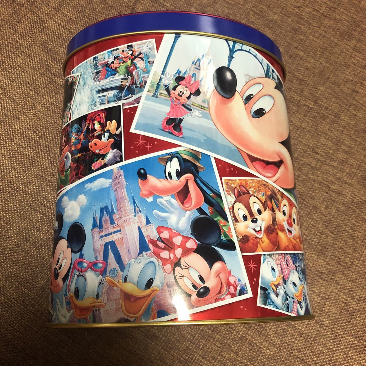 東京ディズニーリゾート チョコレートクランチ 空き缶 空きカン ケース TDL TDS TDR ディズニーランド ディズニーシー ミッキー ミニー_画像2