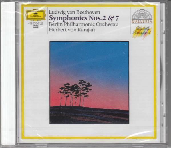 [CD/DG]ベートーヴェン:交響曲第2&7番/カラヤン&BPO_画像1