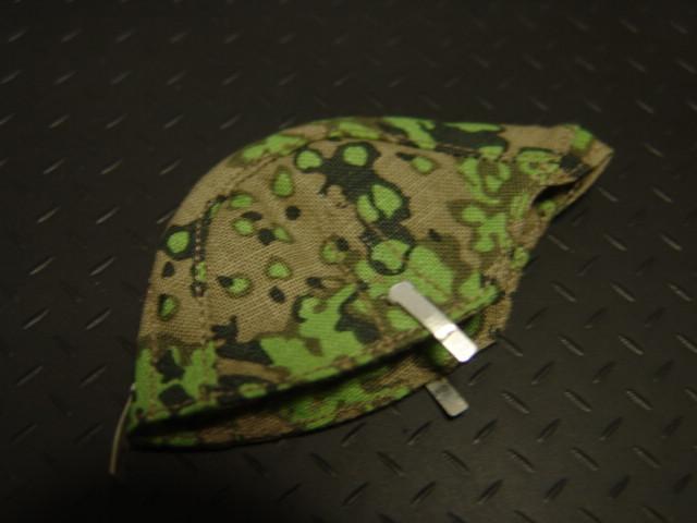 1/6ドールカスタムパーツ:BGT製 ドイツ軍 SS迷彩ヘルメットカバーオークリーフ春季迷彩柄_1/6スケールドイツ軍SS迷彩カバー