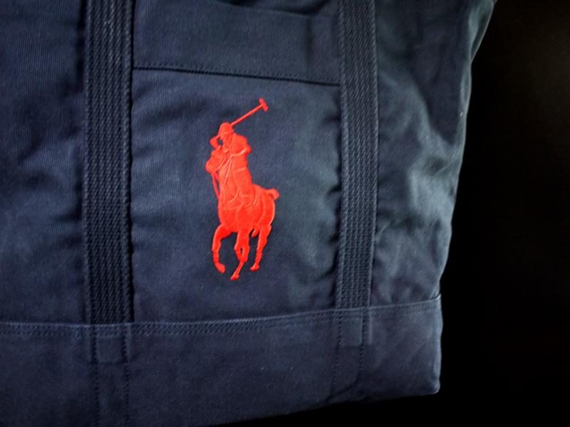 新品 POLO by Ralph Lauren Big Pony TOTE 刺繍ビッグポニー ナンバリング3 ヘビーウェイトキャンバスコットン ネイビー_画像3