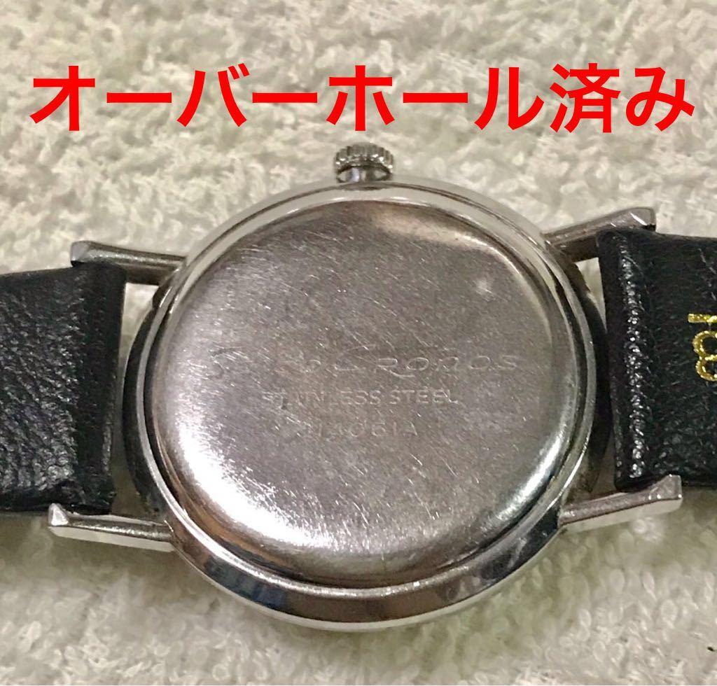 OH・風防交換済 セイコー クロノス メンズ 手巻き 21石 SS J14061A SEIKOSHA 精工舎 CRONOS _画像6