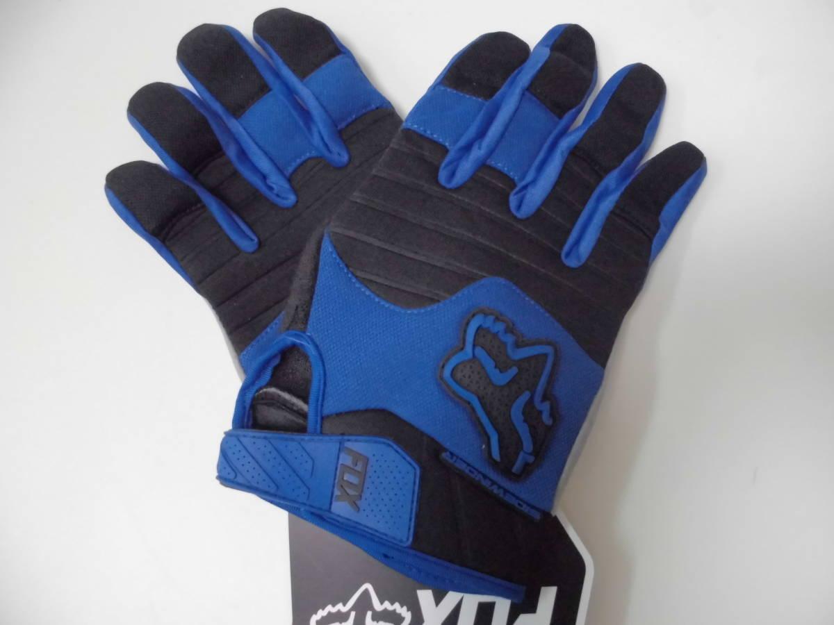 送料無料/即日発送 FOX 青 XL ダートパウ XLサイズ フォックス バイク グローブ ブルー バイクグローブ 手袋 プロテクター サイクリング_画像1