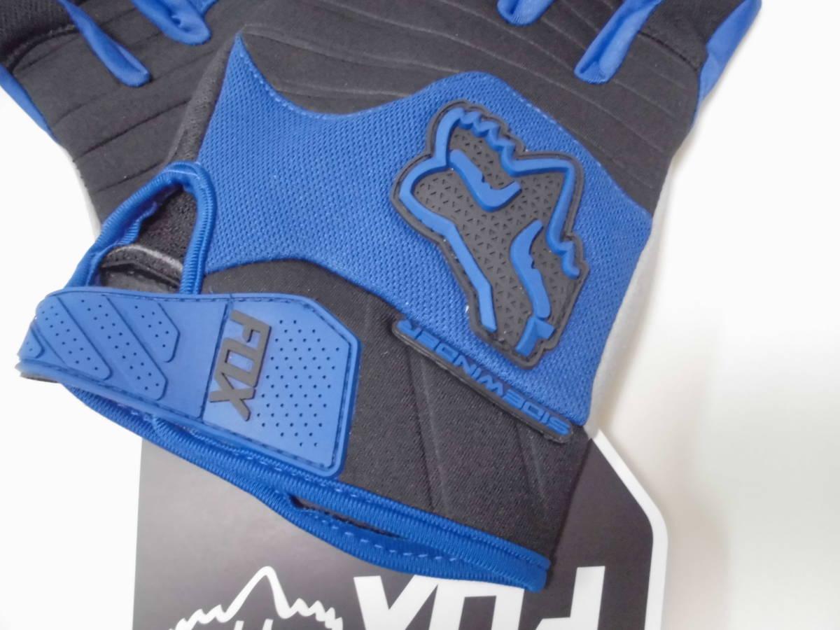 送料無料/即日発送 FOX 青 XL ダートパウ XLサイズ フォックス バイク グローブ ブルー バイクグローブ 手袋 プロテクター サイクリング_画像2